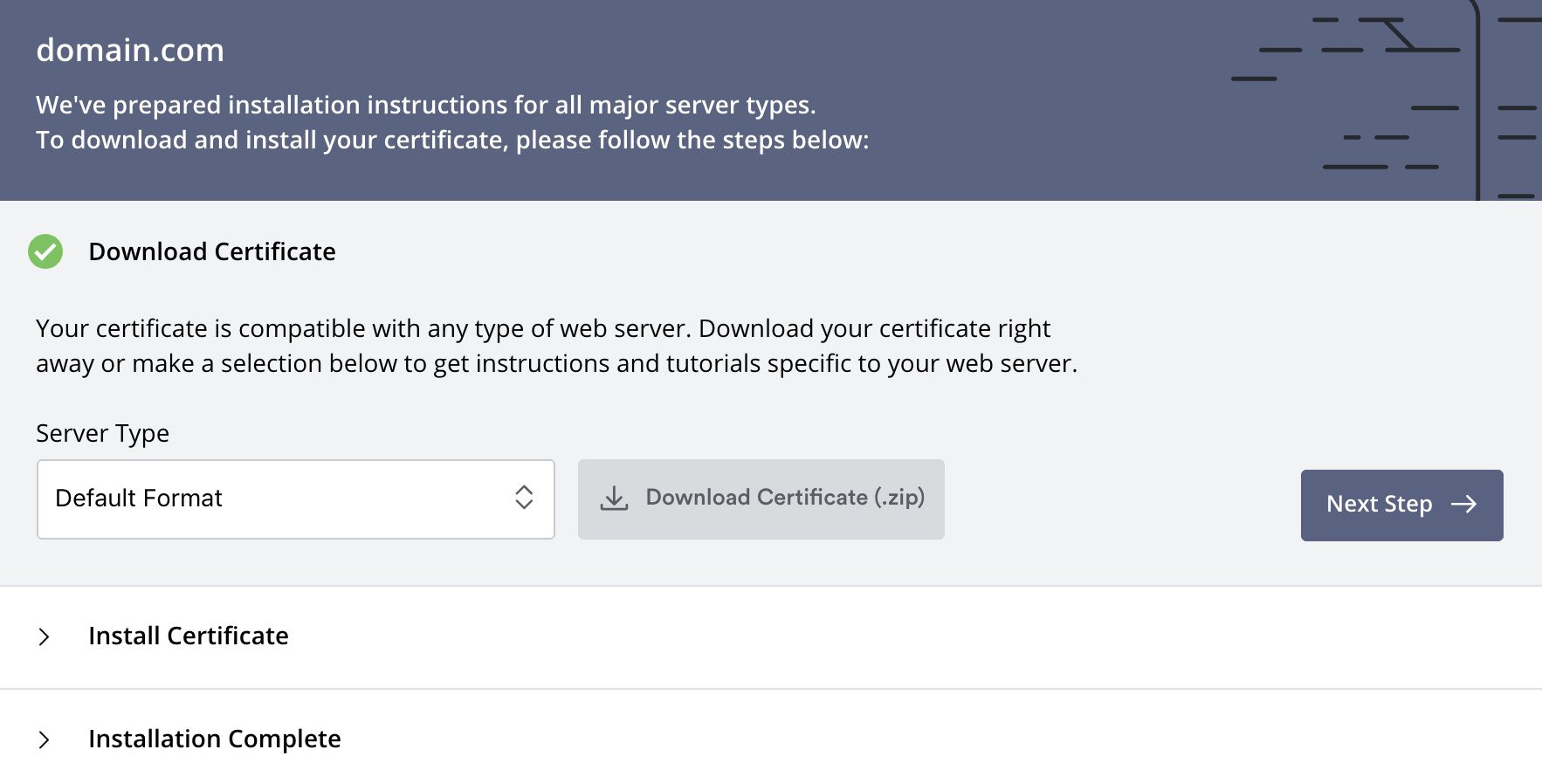 Install Certificate: Download Certificate